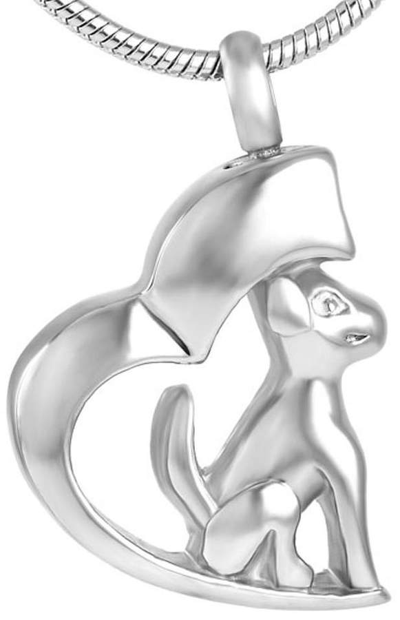 Keepsake Yinplsmemory Animal Pet Ash Necklace Urn Memorial Ashes Pendant Cremation Jewelry