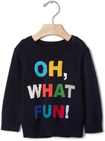 Gap Intarsia fun crew sweater