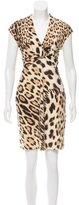Roberto Cavalli Cheetah Print Dress