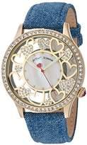 Betsey Johnson Women's Quartz Metal and Cloth Casual Watch