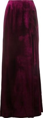 Gianfranco Ferré Pre Owned Side Slit Maxi Skirt