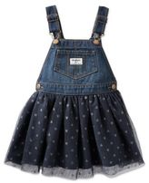 Osh Kosh Size 3M Skortall in Navy with Sparkle Dots