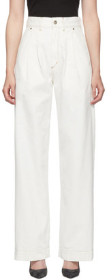 Gold Sign White The Trouser Jeans