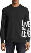 Neil Barrett Live & Let Live Cotton Sweatshirt