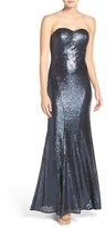 LuLu*s Women's Strapless Sequin Mermaid Gown