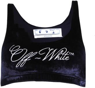 Off-White Velvet Athleisure Bra
