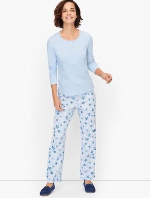 Talbots Knit Pajama Set - Snowflake
