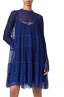 AllSaints Briella Lace Shift Dress