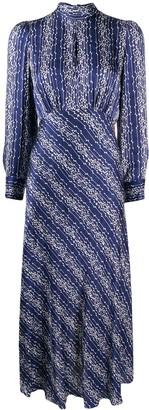 Sandro Geometric Print Midi Dress