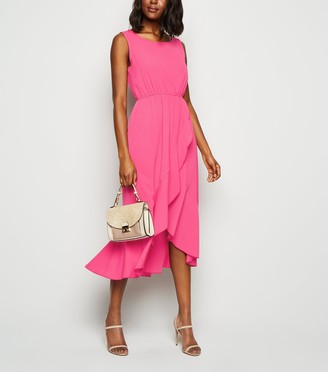 New Look Mela Bright Ruffle Hem Dress