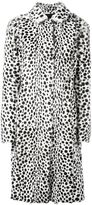 Givenchy dalmation print coat - women - Goat Fur/Viscose/Cotton/Acetate - 40