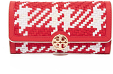 Tory Burch Woven Leather Envelope Wallet