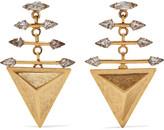 Elizabeth Cole Faren gold-plated Swarovski crystal earrings
