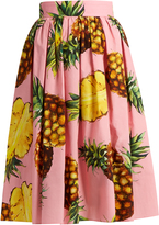 Dolce & Gabbana Pineapple-print cotton skirt