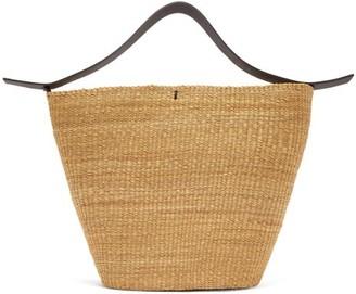 Ines Bressand - N.19 Woven-straw Basket Bag - Black Multi