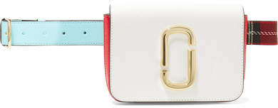 Marc Jacobs The Hip Shot Convertible Color-block Textured-leather Belt Bag - White