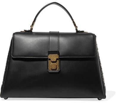 Bottega Veneta Piazza Large Intrecciato-paneled Leather Tote - Black
