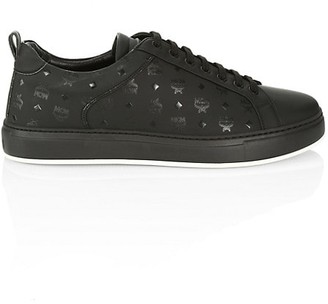 MCM Logo Group M Leather Sneakers