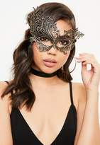 Missguided Gold Lace Mask