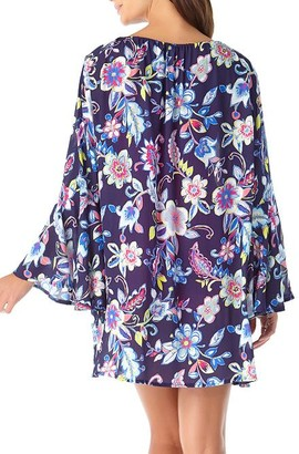 Anne Cole Signature Holiday Paisley Flounce Cover-Up