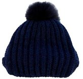 Jennifer Behr Fur-Accented Knit Beanie