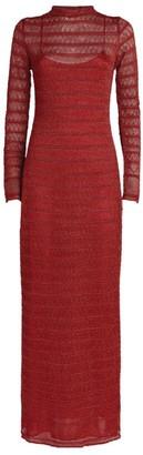 M Missoni Metallic Knit Maxi Dress