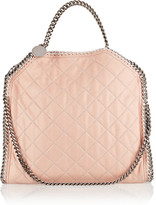Stella McCartney The Falabella Medium Faux Brushed-leather Shoulder Bag - Blush