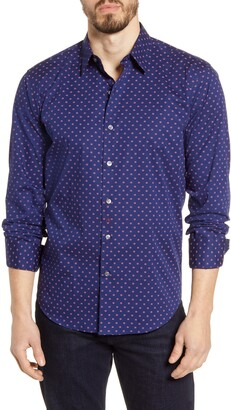 Bugatchi Shaped Fit Button-Up Shirt