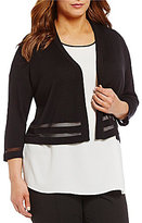 Vince Camuto Plus Open Front Cardigan