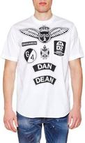 DSQUARED2 Military Logo-Patch Short-Sleeve Poplin Tee, White