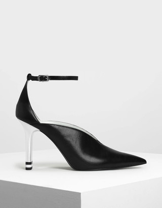 Charles & Keith V-Cut Pointed Toe Pumps