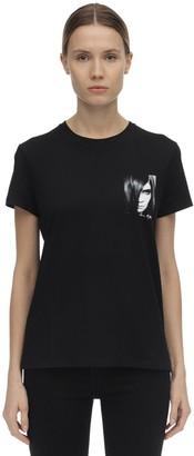 Karl Lagerfeld Paris Carine Print Cotton Jersey T-shirt