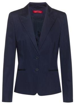 HUGO BOSS Regular Fit Jacket In Stretch Cotton - Light Blue
