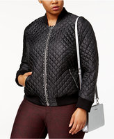 MICHAEL Michael Kors Size Embellished Quilted Bomber Jacket, a Macy's Exclusive Style
