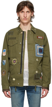 Amiri Green Brothers Military Short Parka