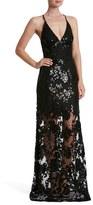 Dress the Population Women's Vivienne Sequin Lace Gown