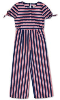 Speechless Big Girls Striped Jumpsuit