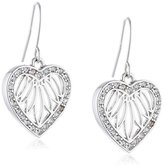 Jacques Lemans Women's Earrings Rhodium-Plated Brass with Crystals 3 CM WHITE-J0214E / 00 / 00