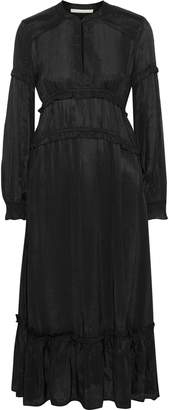 Vanessa Bruno Judikaelle Ruffled-trimmed Satin-twill Midi Dress