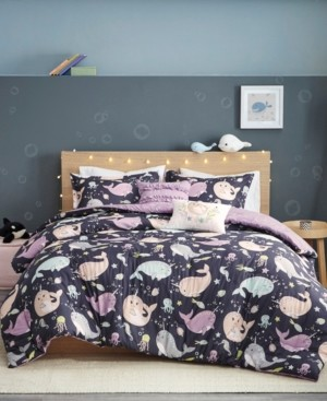 Urban Habitat Kids Magical Narwhals 4-Piece Reversible Twin Comforter Set Bedding
