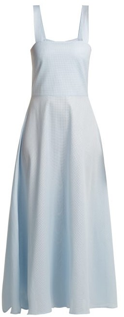 Gioia Bini Lucinda Cotton Maxi Dress - Womens - Light Blue