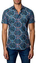 Jared Lang Spread Collar Cotton Sportshirt