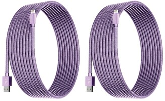 Posh Tech Light Purple 6 Ft Apple Certified Charge N Sync Lightning Cables - Pack of 2