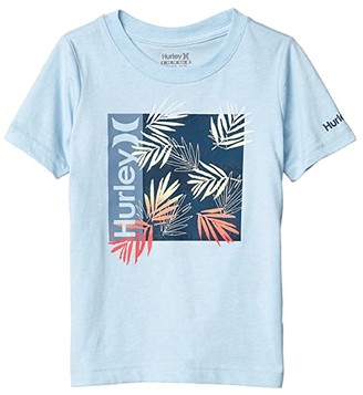 Hurley Box Print Fill Graphic T-Shirt (Little Kids) (Chambray Blue Heather) Boy's Clothing
