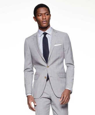 Todd Snyder Black Label Sutton Suit Jacket in Italian Grey Windowpane Tropical Wool