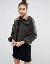 Glamorous Textured Biker Jacket