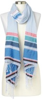 Gap Mix stripe fringe scarf