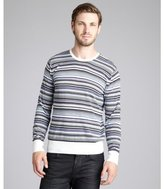 Paul Smith PS blue striped cotton crewneck sweater