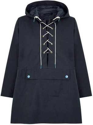 Barbour By ALEXACHUNG Pippa Navy Brushed-twill Jacket