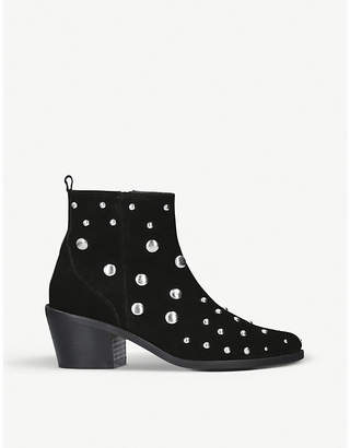 Kurt Geiger London Ladies Black Dome Suede Embellished Chelsea Boots